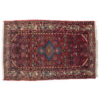 Persian Hamadan HandTied Wool Rug - 2′8″ × 4′3″