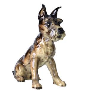 Goebel Ceramic Schnauzer Dog Figurine