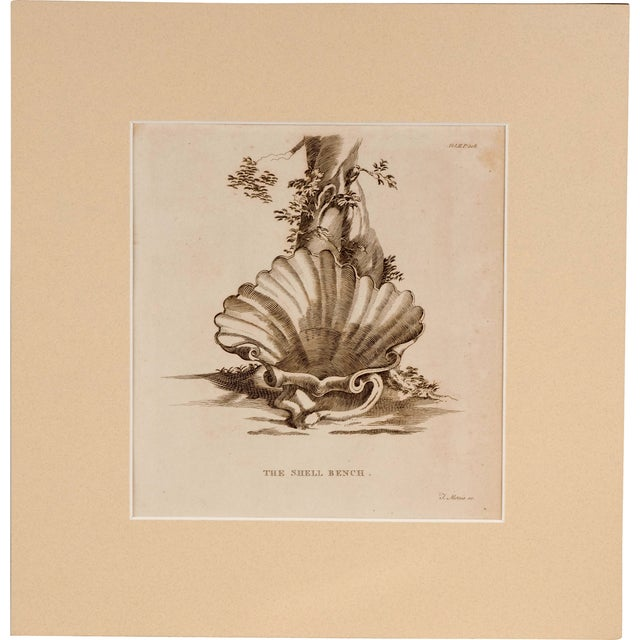 Original Engraving Strawberry Hill Shell Bench - Image 2 of 3