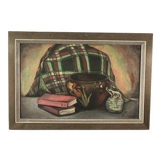 "1940s ""The Glass Elephant"" Still Life Oil Painting"