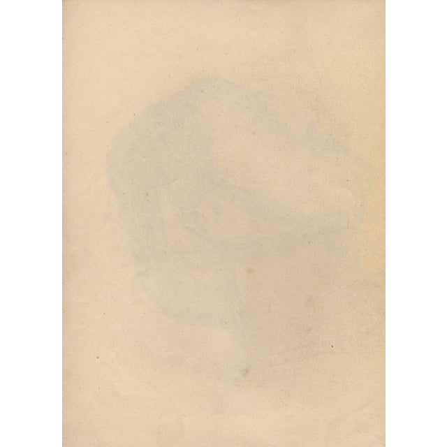 Auguste Revel 1927 Romanesque Female Portrait - Image 2 of 2