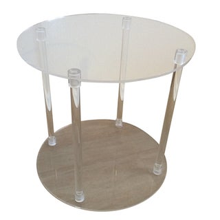 Round Lucite Acrylic Side Accent Table