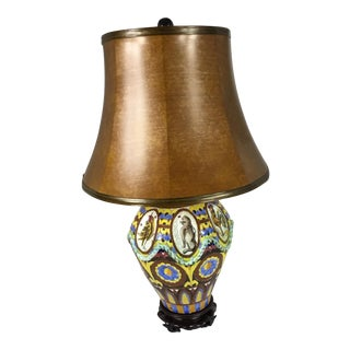 Spanish Mission Majolica Table Lamp