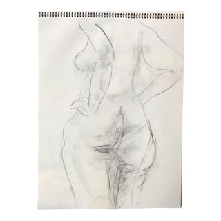Nude Back View Drawing