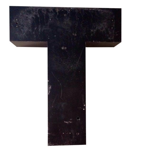 Image of Giant Vintage Metal Sign Letter - T