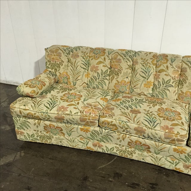 Vintage 60s retro floral sofa chairish for 80s floral couch