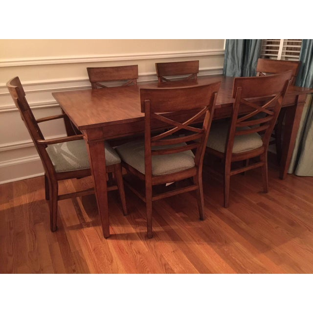 Ethan Allen Dining Table & Chairs - Image 5 of 8