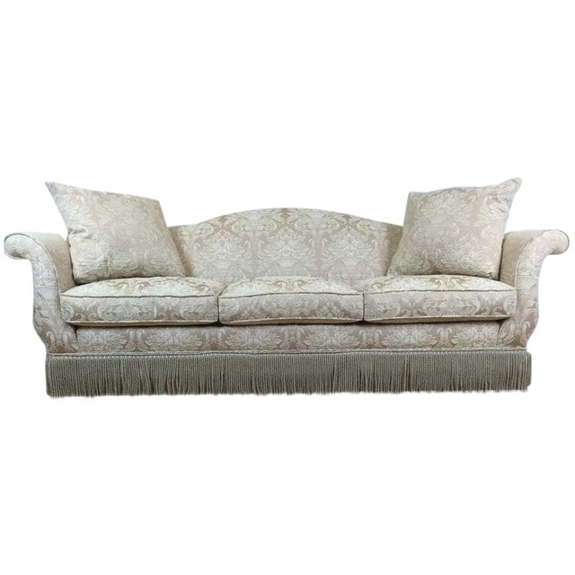 Image of Cream Embroided Custom Sofa