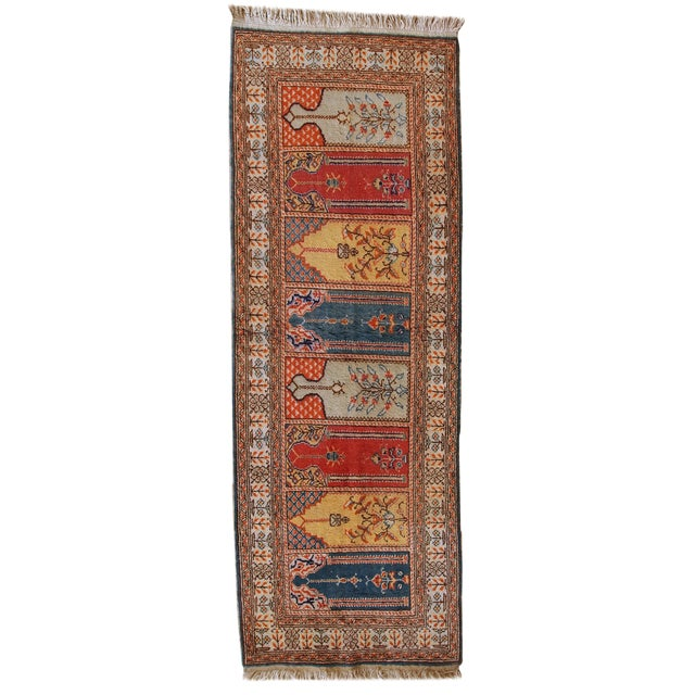 1960s Handmade Turkish Kayseri Runner - 2' X 5.6' - Image 1 of 10