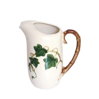 Ivy & Bamboo Porcelain Pitcher