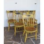 Image of Set of Six Slat-back Windsor Side Chairs