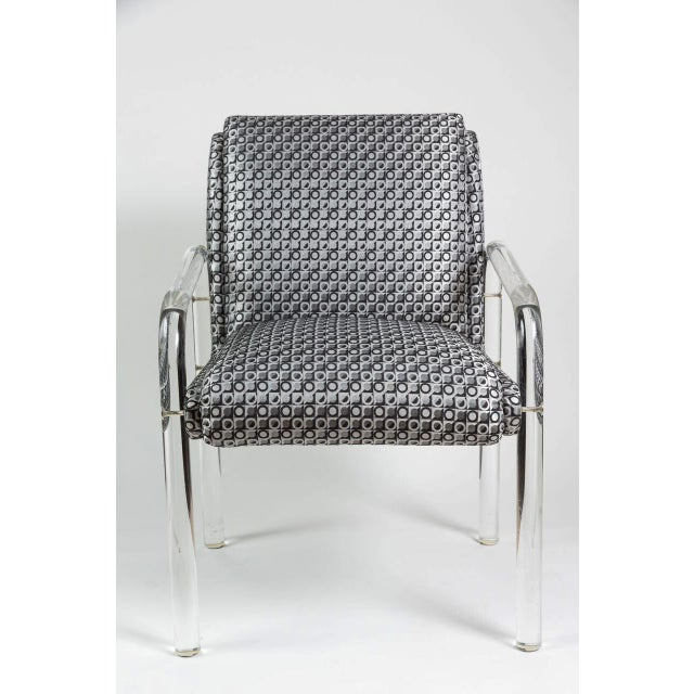 Charles Hollis Jones Style Lucite Armchairs - A Pair - Image 3 of 7