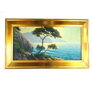 California Coast Painting by J. Cunningham