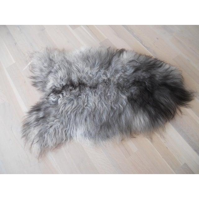 Nordic Gray and Black Sheep Throw - Image 2 of 7