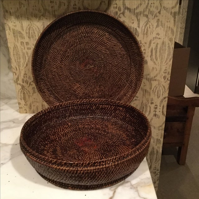Image of Lidded Chinese Sewing Basket