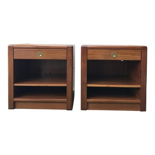 D-Scan Danish Bedside Tables - A Pair