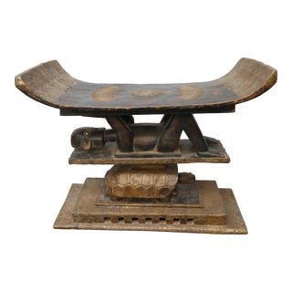 Figural Ashanti Kings Stool From Ghana
