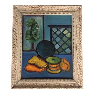 Mid-Century Vintage Modernist Still Life Painting