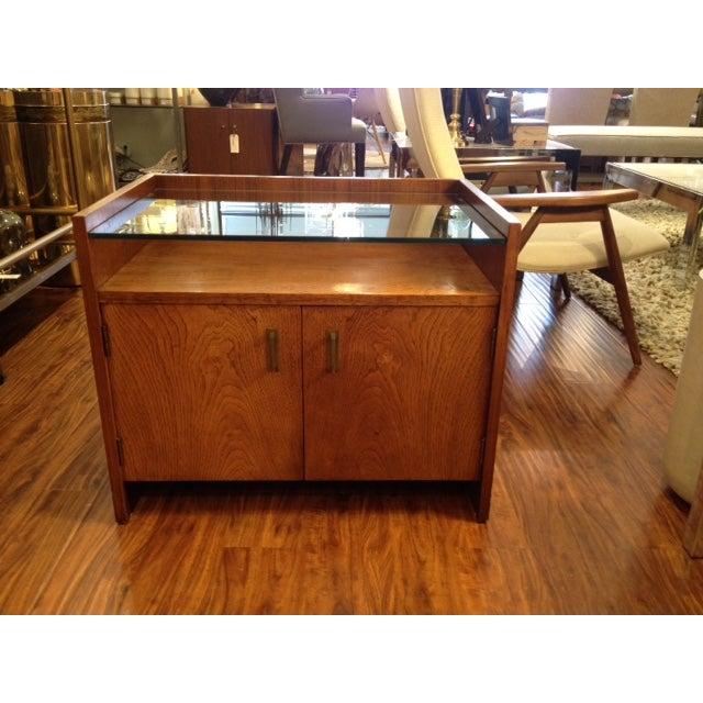 Vintage Modern Nightstand with Glass Shelf - Image 2 of 3