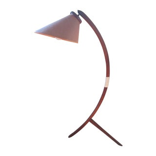 Mid Century Bowed Wood Floor Lamp