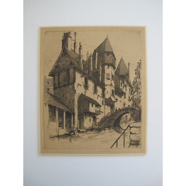 Gables and Chimneys, John McGrath Etching - Image 2 of 5