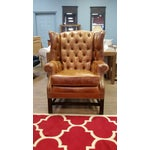 Image of Refurbished Genuine Leather Wing Chair