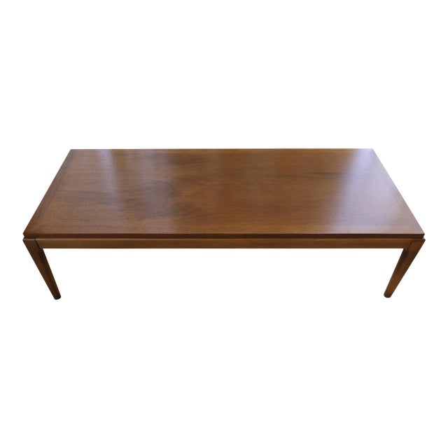 Mid Century Lane Copenhagen Drop Leaf Coffee Table: Lane Rhythm Mid-Century Walnut Coffee / Cocktail Table