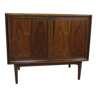Drexel Two-Door Walnut Cabinet, 1950-Kipp Stewart