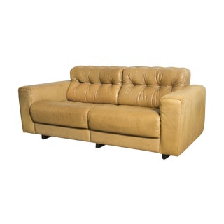 De Sede Tufted Leather Loveseat