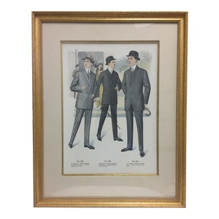 Framed Antique Clothing Line Print, 3 of 14