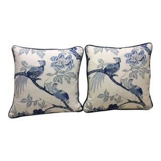 Blue & White Pillows - A Pair