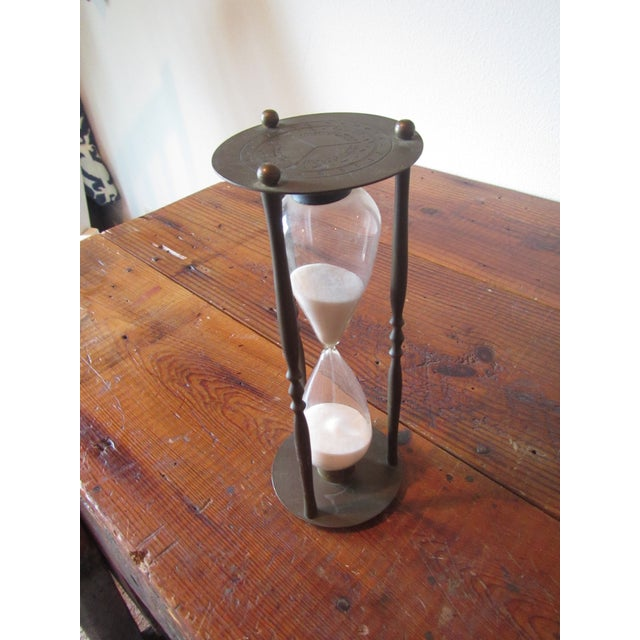 Mid-Century Modern Brass Hourglass Sand Timer - Image 5 of 7