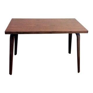 Vintage Thonet Mid Century Modern Bent Wood Coffee Table