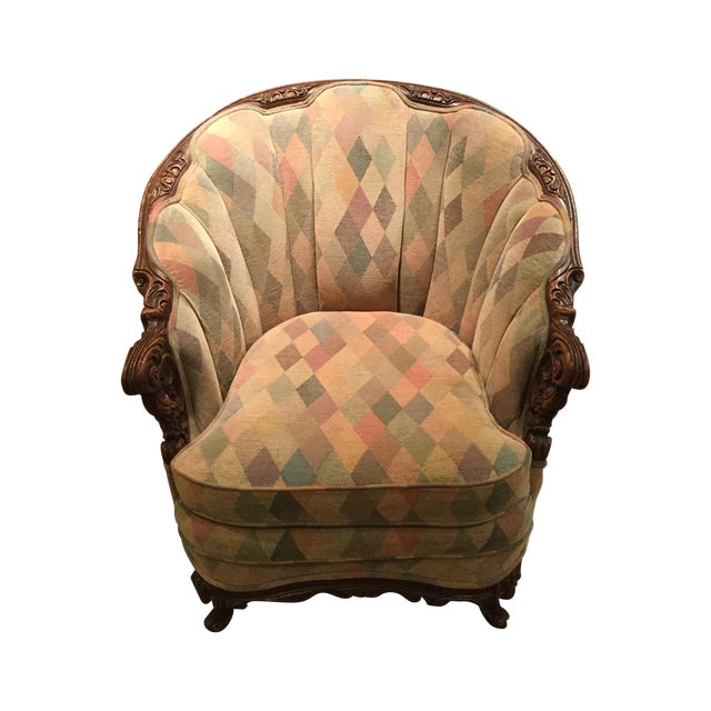 1950s Harlequin Channel Back Chair - Image 1 of 9