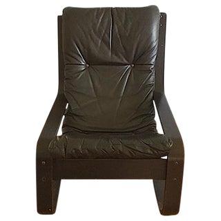 Gerard Van Den Berg Leather Sling Chair