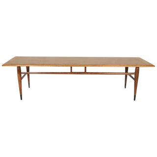 Modernist Walnut Coffee Table by Lane