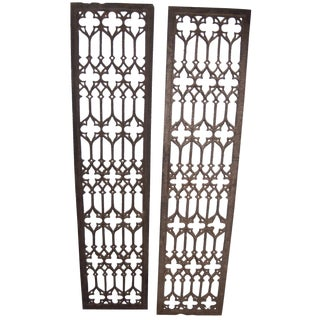 Cast Iron Trellis Grills - A Pair