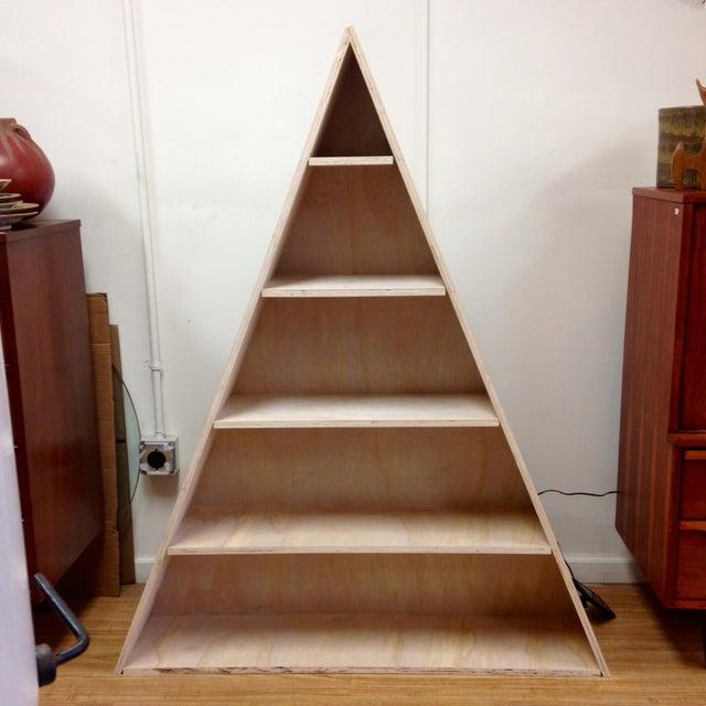 Triangular Natural Maple Bookshelf - Image 2 of 8