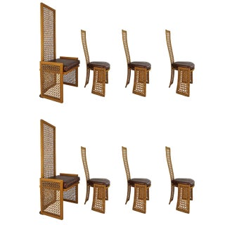 Vivai Del Sud for Casa Bella Italian Rattan Dining Chairs - Set of 8
