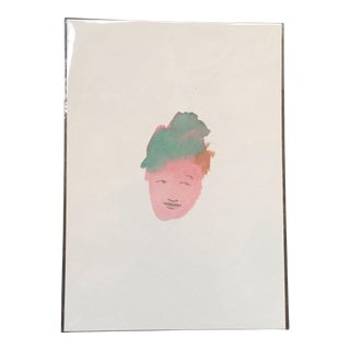 Abstract Watercolor Face of a Woman