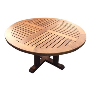Round Brazilian Redwood Dining Table