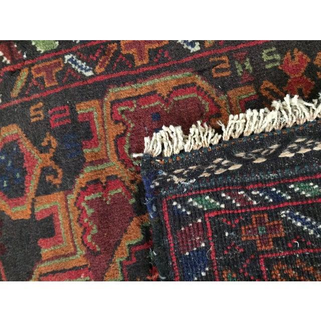 Vintage Balluchi Persian Rug - 1'8 x 1'11 - Image 10 of 10