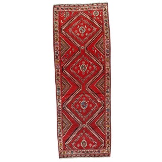 "Pasargad NY Semi-Antique Persian Shiraz Lamb's Wool Rug - 3'10""x9'5"""