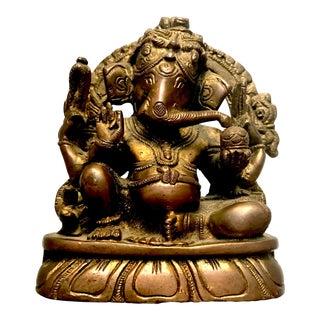 Mid-Century Indian Brass Statue of Ganesha