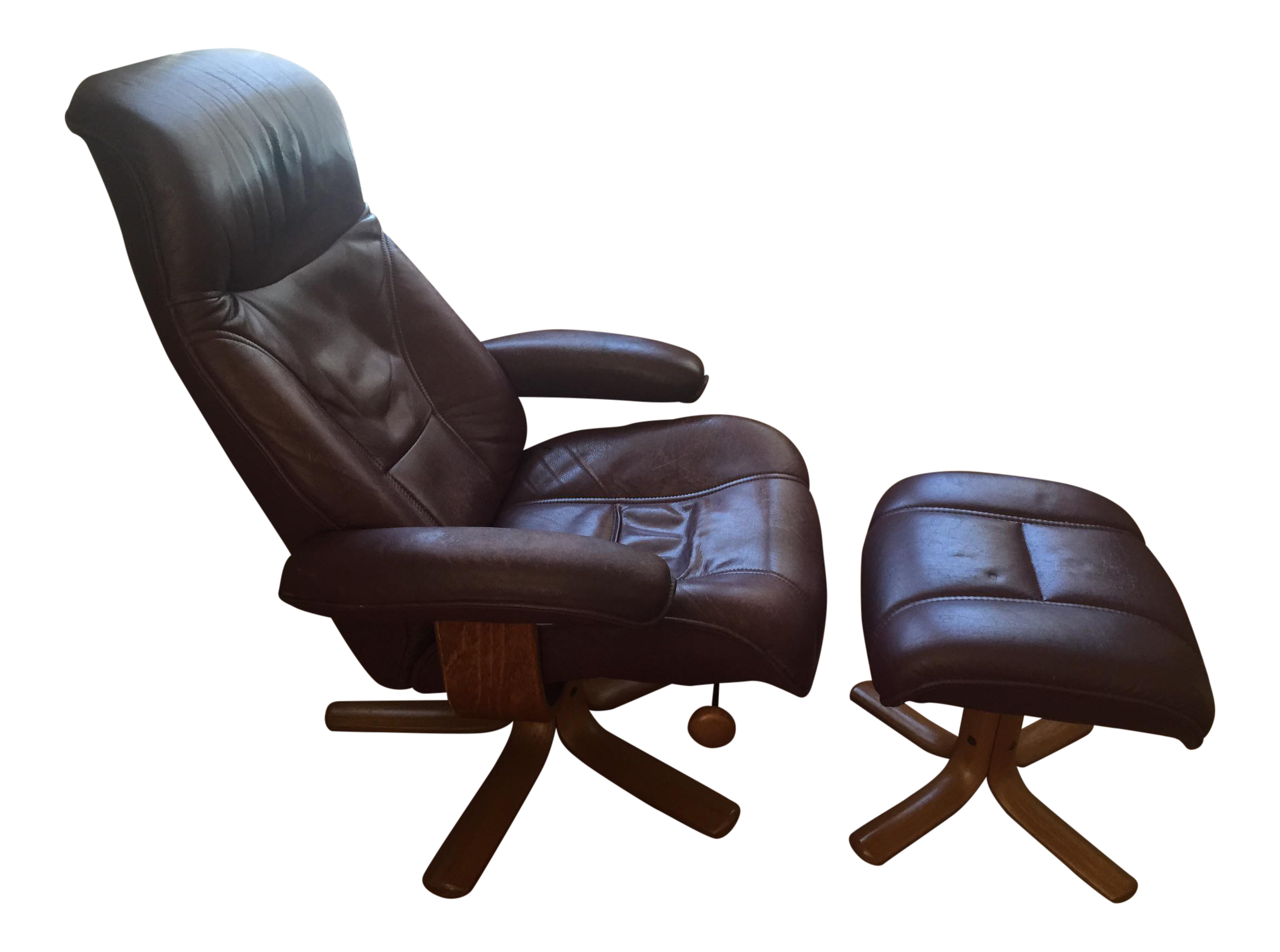 Hjellegjerde Mobler Reclining Lounge Chair And Ottoman   Image 1 Of 11