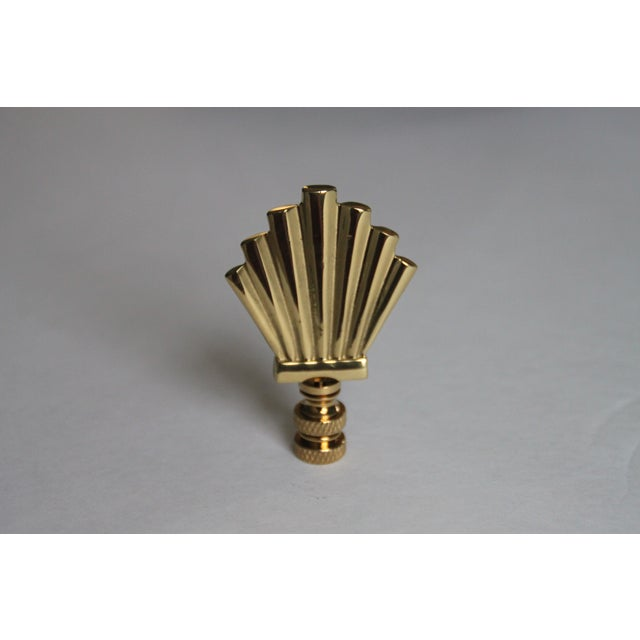 Image of Brass Art-Deco Style Fan Finials - A Pair