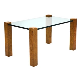 Milo Baughman Burl Side or End Table by Thayer Coggin