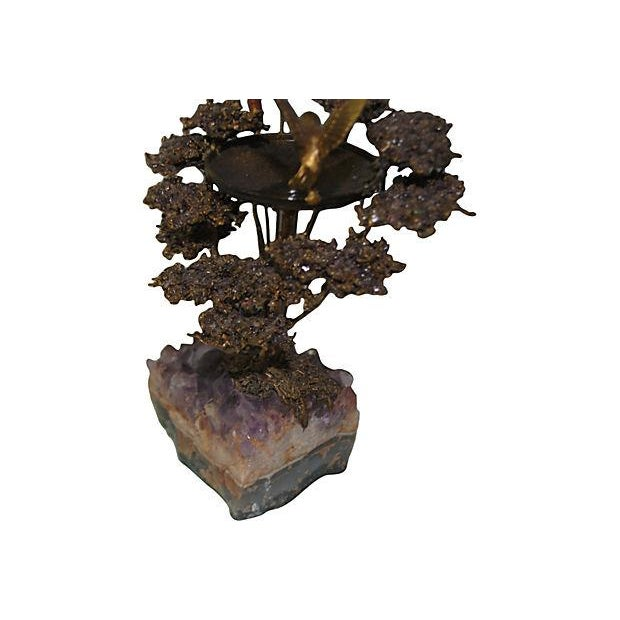 Amethyst Geode & Brass Bird Sculpture - Image 5 of 5