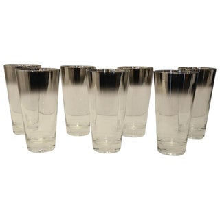 Seven Vintage Mid-Century Mercury Fade Tom Collins Glasses