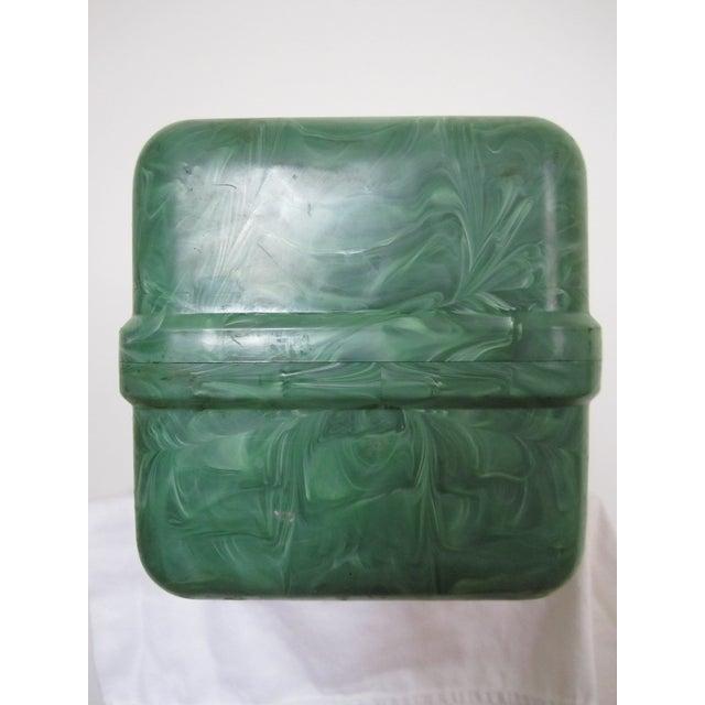 Green Marbleized Malachite Style Storage Box - Image 4 of 8
